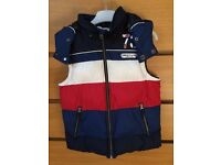 Timberland Kids Abington Blue/White/Red Hooded Gilet