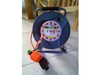 30m Reverse Cable Reel with weather proof socket