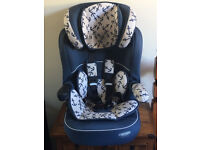 Obaby Group 1-2-3 High Back Booster Car Seat - Little Sailor Preowned In Great Condition