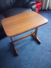 SMALL BEIGE COLOURED SIDE TABLE