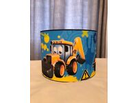 My first JCB ceiling light shade (diggers)