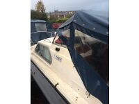Norman 20ft mid cabin cruiser , 15hp Tohatsu four stroke outboard engine BSS 2020 ready to enjoy