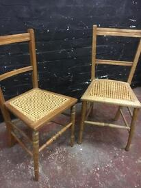 A beautiful pair of Bergere bedroom chairs