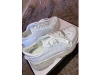 Dsquared womens chunky white trainers size 5