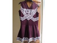 Genuine Maroon/Burgundy Cheerleader Dress from the school TCHS in Louiseville, USA - Size S