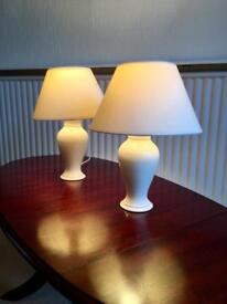 Simple white table lamps (set of 2)