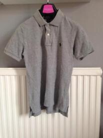 Polo Ralph Lauren grey polo shirt size S