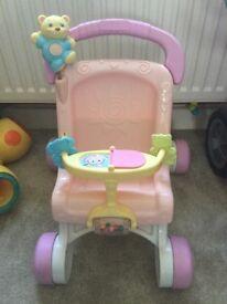 Doll toys pram pushchair stroller highchair baby walker bundle