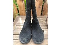 Ugg cardi boots black size 4.5 ladies shoes