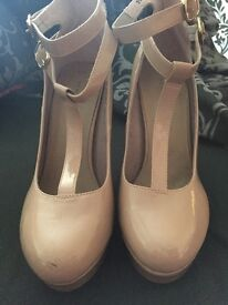 Woman's Patent Nude Heels size 6