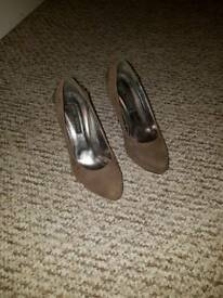 Jane Norman khaki suede shoes