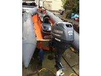 Avon 4m rib 2013 Yamaha 4stroke outboard engine