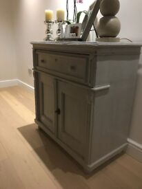 Vintage Grey Painted Sideboard