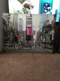 3 x Large canvases