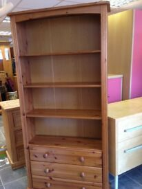 Huge solid pine bookcase every inch solid