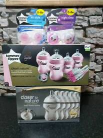 Tommee tippee bottles and dummies