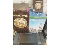 Uncharted 4 COLLECTORS + Watch Dogs 2 COLLECTORS + HALO 5 COLLECTORS + Uncharted 4 (special edition)
