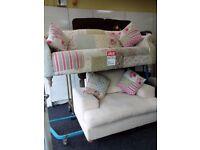 Dfs exdisplay patchwork cuddle chair set