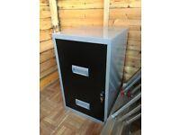 Black / Silver Filing Cabinet
