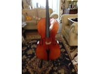 4/4 Cello with case & bow