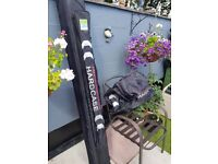 Fishing rod carrier and large fishing bag