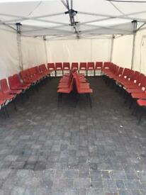 Stacking chairs marquee chairs plastic chaire