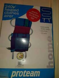 Heated clothes airer 240v brand new