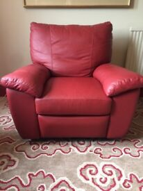 Luscious Red Leather Chair