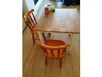 Dining table with dining chairs