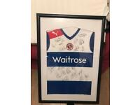 Reading full signed shirt, (match worn) and framed in glass