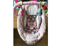 Pink mothercare baby bouncer