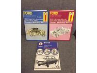 Rare Retro Haynes Manuals Ford Escort car manuals vintage 1960s 1970s 1980