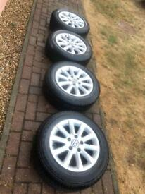 """Volkswagen Golf / Jetta 15"""" alloy wheels with tyres"""