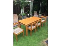 Hamlet solid pine hand made table and 4 chairs Retro 80's. Great condition. Local Delivery possible.