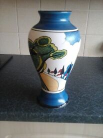 Clarice Cliff by Wedgewood large May Ave Vase.