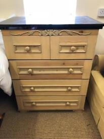 Chest of Drawers with Granite Top