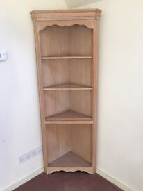 Glass Fronted Cupboard and Corner Unit