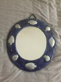 Beautiful Handmade Ceramic Mirror 39cm x 43cm