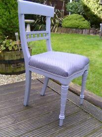 Vintage wooden chair in grey
