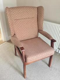 Parker knoll high back Chair, Winged armchair, VGC