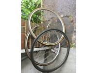 Vintage Mavic and old 700c bike wheels