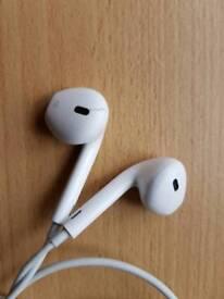 Apple iPhone headphones, ( Orginal ), (small crack), (works well )