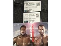 Anthony Joshua V Wladimir Klitschko tickets x6 - GOOD SEATS