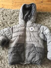 Age 4-5 years boys grey converse coat