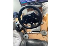 Logitech g920 with wheel stand pro and Volvo full leather seat full setup!!
