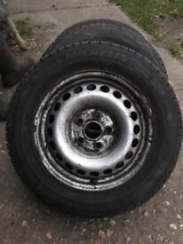 VW T5 steel wheels