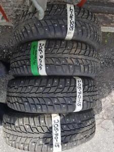 205/70/15 * 4 pneus hiver norman clouté 9/32