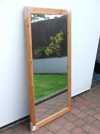 New Mirror with Pine Frame