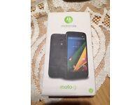 Motorola MOTO G - 8GB - Black (Unlocked) Smartphone WITH CASE BOX INSTRUCTIONS