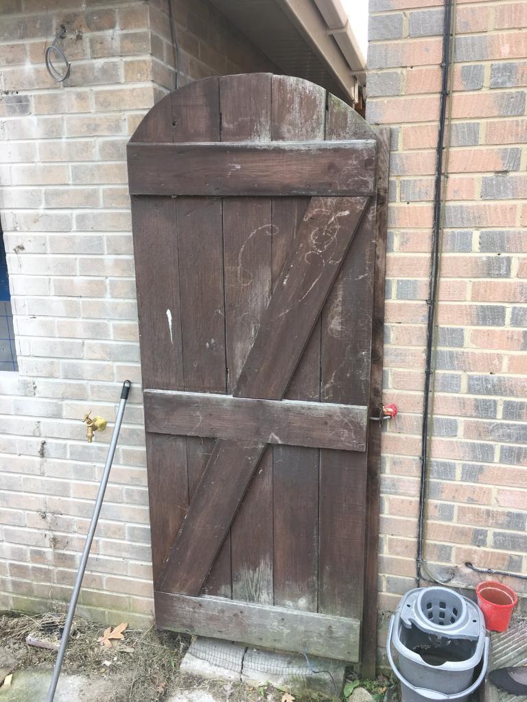 Garden side gate wooden